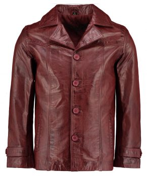 Mens Heist Red Wine Leather Jackets 01.jpg