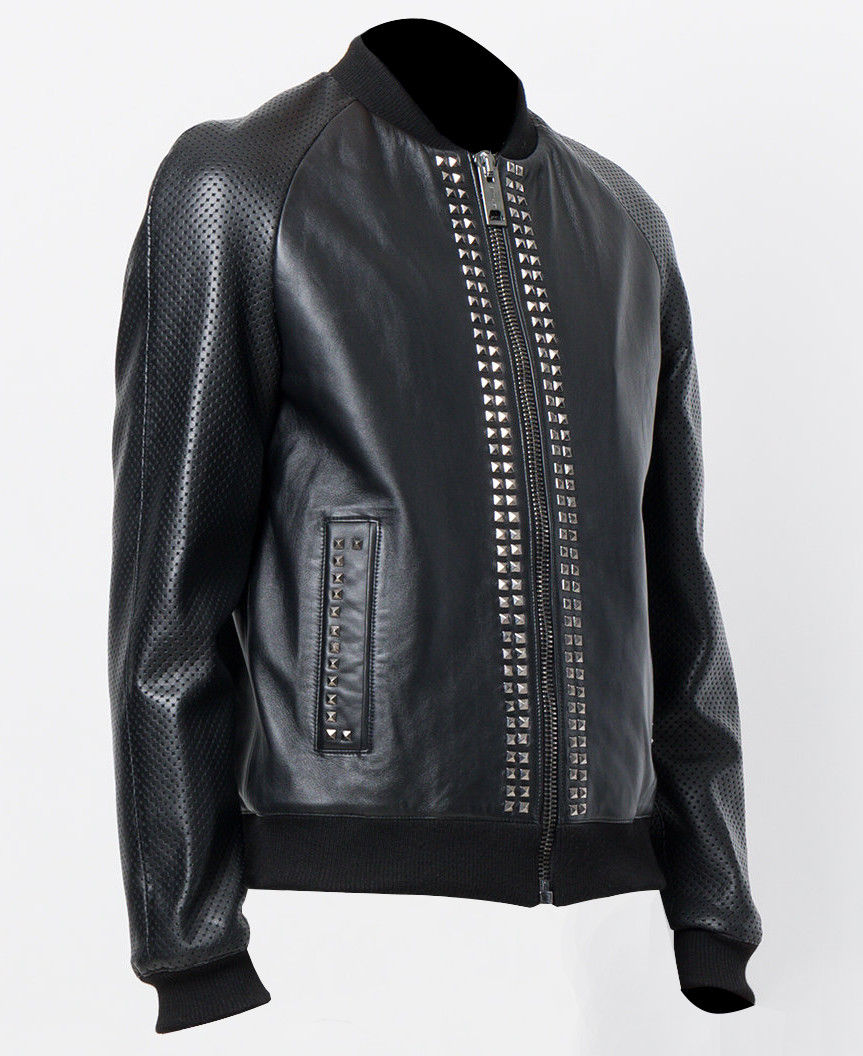 Mens Studded Bomber Designer Leather Jackets 02.jpg