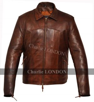Mens The Wheelman Brown Leather Jackets 01.jpg