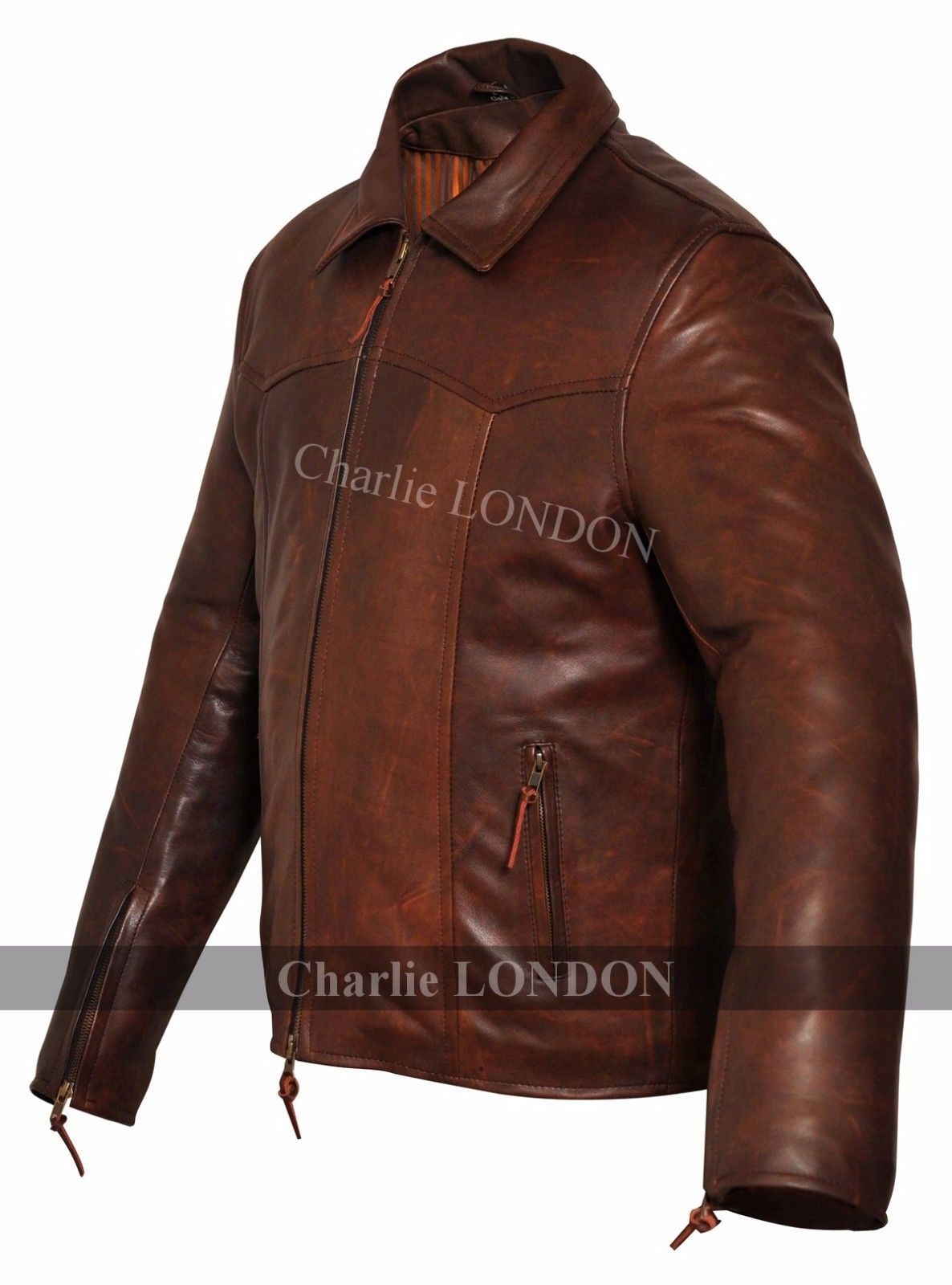 Mens The Wheelman Brown Leather Jackets 02.jpg