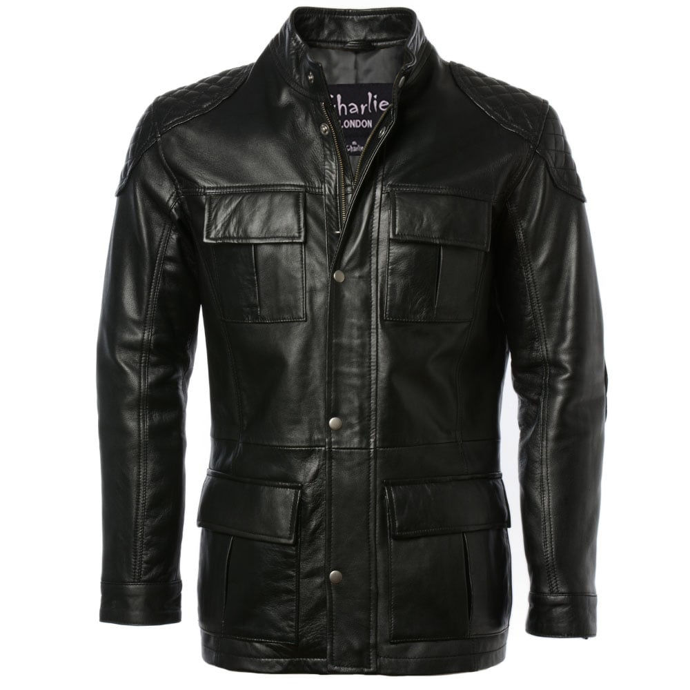 Mens Three Quarter Brontes Leather Jackets -1.jpg