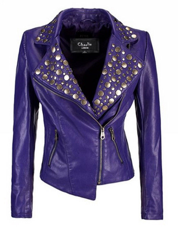Womens Studded Pruple Leather Biker Jackets 1.jpg