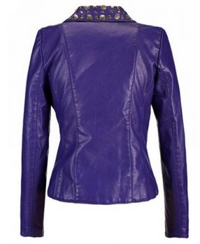 Womens Studded Pruple Leather Biker Jackets 2.jpg